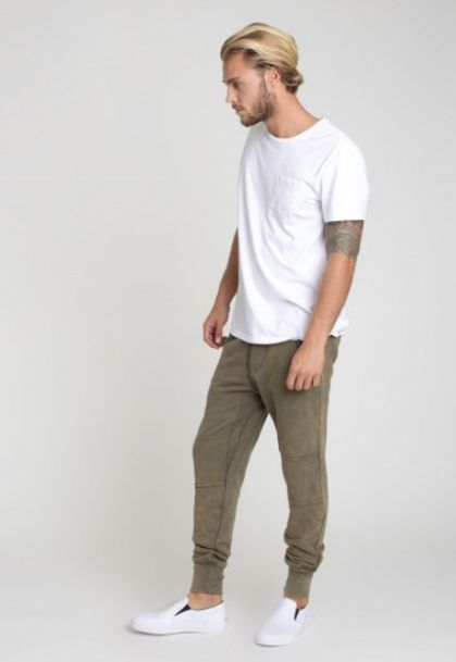 Class Mens Lounge pant / olive from ascot   hart