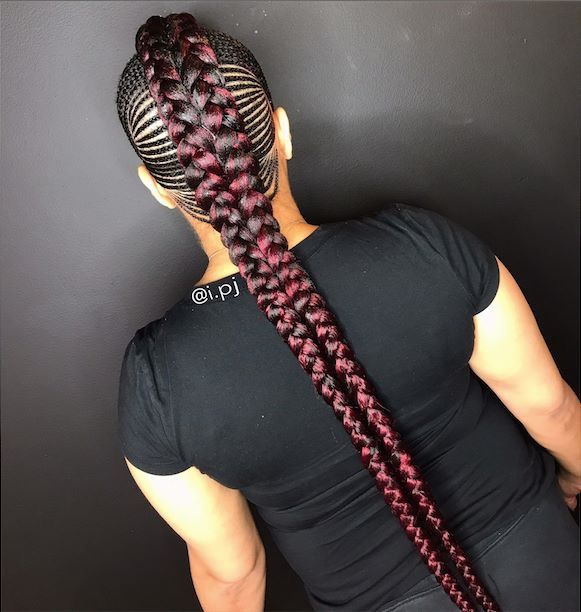 Mohawk Feed In Braids Beauty In 2019 Braids Hair