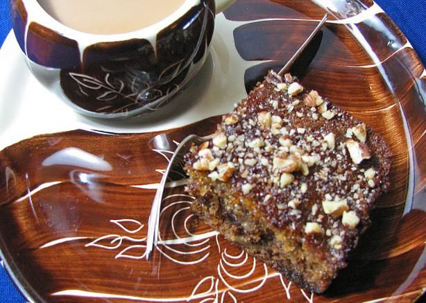 South African Brandy Squares from Food.com: This is a South African recipe. It is moist and simply delicious with cream. To change the flavour of the dessert, use orange liqueur instead of brandy.