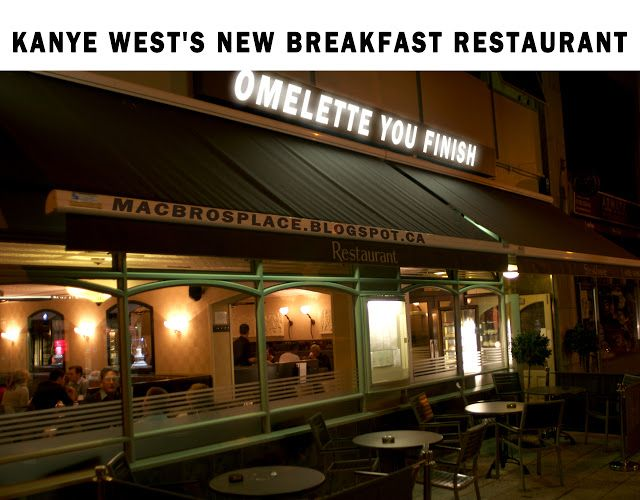 MacBro's Place: Kanye West's New Breakfast Restaurant:  Taylor Swift says the staff won't stop interrupting your meal to ask if everything is alright. They also will carry on about their life problems. Omelets are bland.  #KanyeWest #TaylorSwift #MEME #Funny