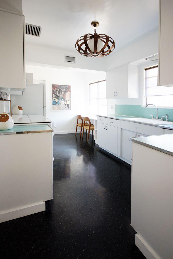 Modern, Simple, Scandinavian elements kitchen | The Brick House ... {that light feature!}