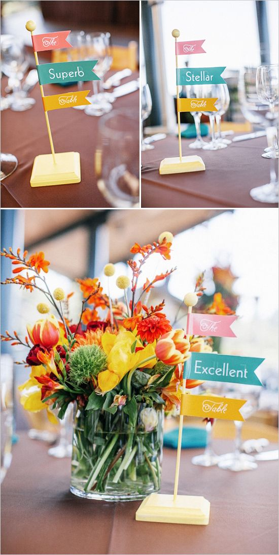 Awesome table names! Photo captured by Heather Elizabeth Photography