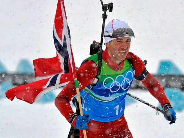 Ole Einar Bjoerndalen. We had a lot of fun rooting for him through the men's biathlon during the Olympics.