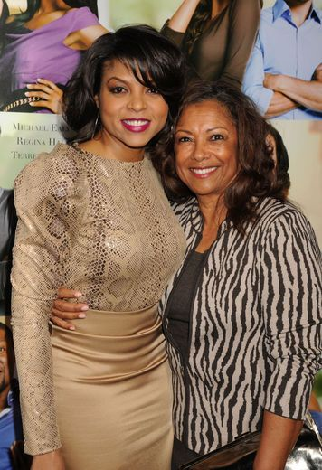 Taraji  P. Henson shows off her lovely mom Bernice Gordon at the Think Like a Man premiere.