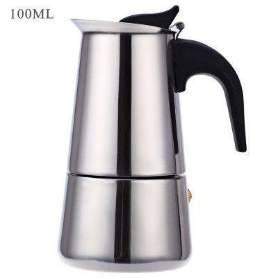 Classic Stainless Steel Coffee Percolator Moka Coffee Maker Mocha Espresso Latte Stovetop Filter Coffee Pot Percolator Tools