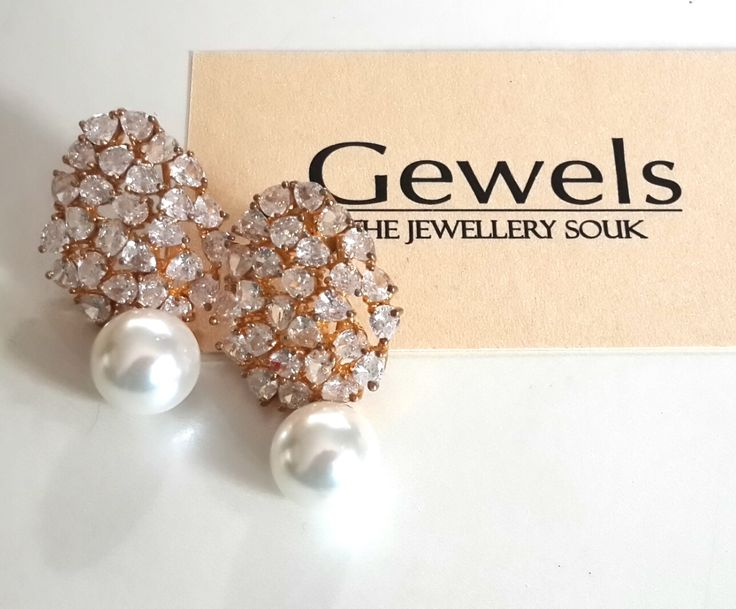 Silver based American diamond earrings,22kt Gold and Rhodim played,life long service of reposlishing incase jewellery turns black. Gewels- experience luxury gewels#jewels#jeweller#degner#earrings#jewellery#