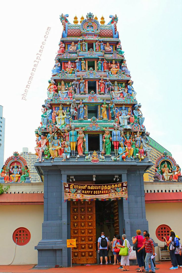 "Sri Mariamman Temple: The Oldest 'Hindu' temple in Singapore is also found inside Chinatown. This is a surprising fact, since you would expect such a temple to be in Little India, the Indian enclave of Singapore. However, the Tamils from India and the Chinese had an amazing solidarity even back then, working together in Chinatown. The original Goddess ""Sinna Amman"" was installed in 1827, to protect people against Small Pox and Chicken Pox."