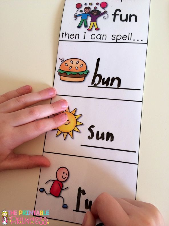 "The Printable Princess: cvc wordsCVC Practice.. ""If I Can Spell..."" Love how this has built confidence in my kids! If they can spell ""fun"" then they can spell sun and run too!"