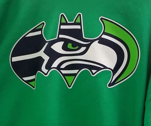 Seattle Seahawks Batman logo. Need this as a decal for the wall above Seattle skyline decal.