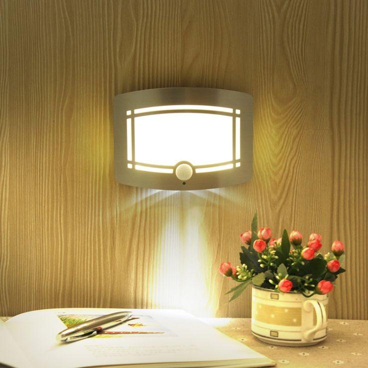 Battery Night light Lamps Motion Sensor Night Light Intelligent LED Human Body Motion Induction wireless wall Lamp