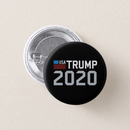 Trump 2020 for president MAGA USA Flag Pinback Button - #customizable create your own personalize diy
