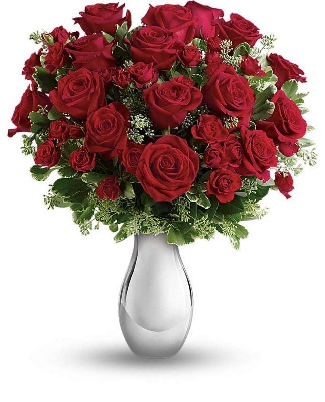 Balıkesir Buse Çiçek Vazoda Kırmızı Güller