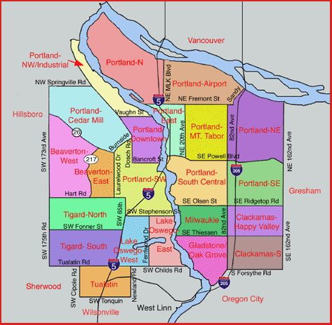 North Portland Neighborhoods | mt tabor north northeast northwest industrial south central southeast ...