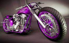 Really cool purple Harley.
