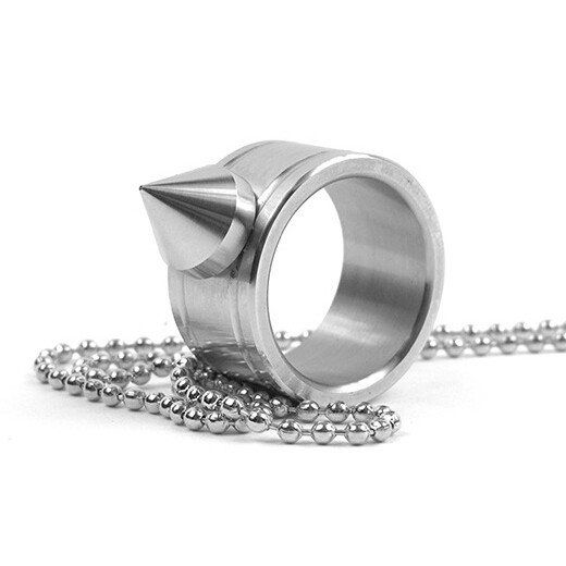 Steel Self Defence Ring Necklace...FREE SHIPPING...