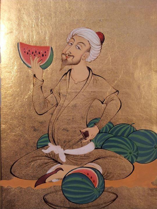 watermelon, Özcan Özcan (Uzbekh style)
