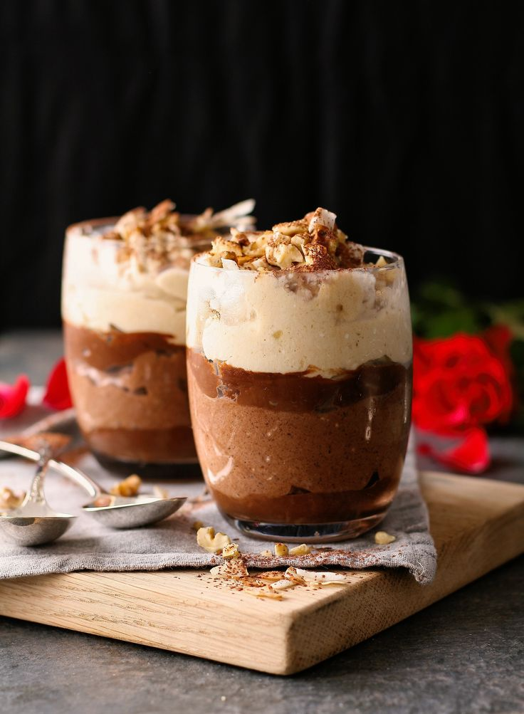 The sweetest ending to a romantic evening with your sweetheart... Valentine's Day Parfaits topped with walnuts, toasted coconut and dark chocolate sauce. Bliss!  Get the recipe: http://bit.ly/2kSjOYM  #NutsAboutYou | #LoveMontagu | #NutsAboutLove