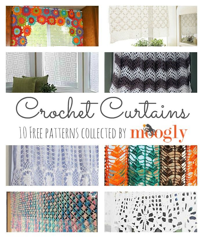 10 Free Crochet Curtain Patterns! ༺✿Teresa Restegui http://www.pinterest.com/teretegui/✿༻