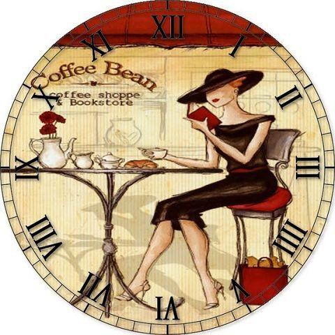 Схема вышивки «Часы с леди» - Вышивка крестом
