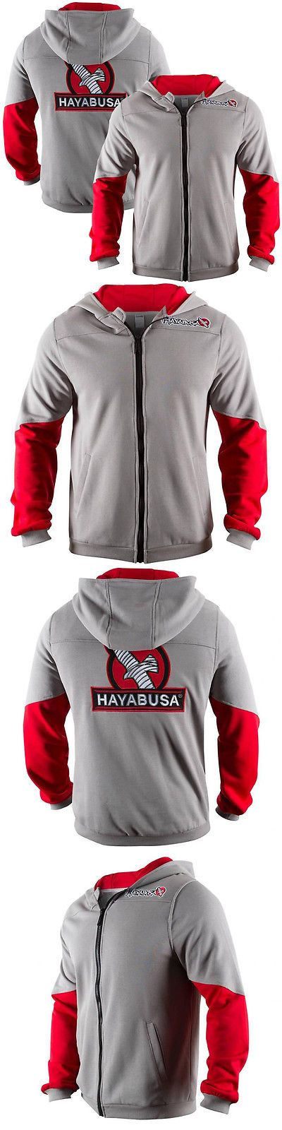 Hoodies and Sweatshirts 179770: Hayabusa Wingback Classic Fit Zip-Up Hoodie - Gray/Red-Boxing Mma Sweatshirt -> BUY IT NOW ONLY: $79.99 on eBay!