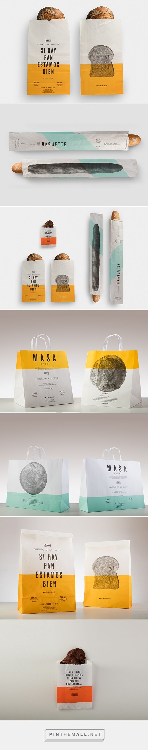 Masa  - take away bags on Packaging Design Served - created via https://pinthemall.net