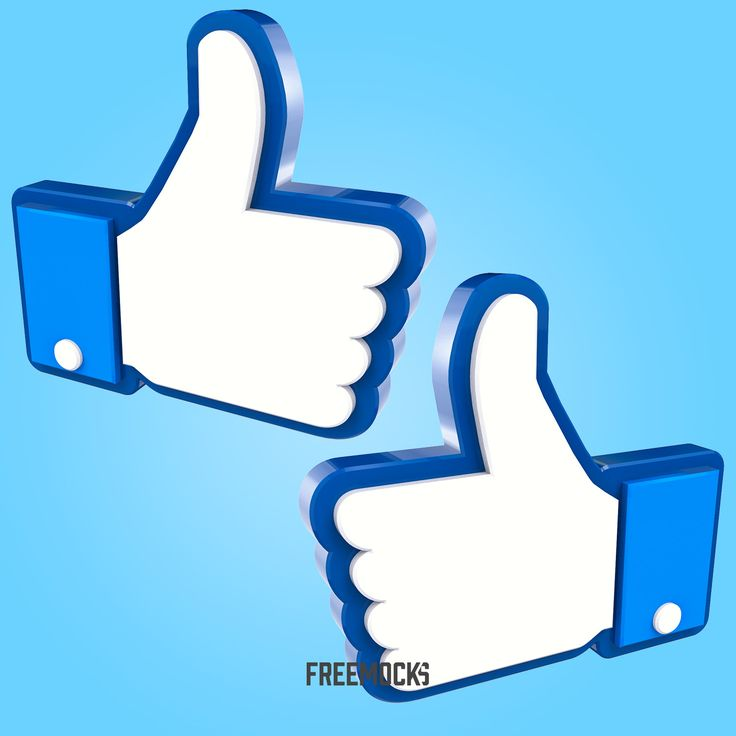 Thumbs Up Hand Facebook Like 3D Transparency PNG – Free graphic resources, vectors, mockups, logos and more!