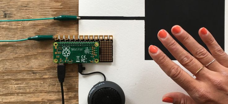 Set the Pi Cap either as a touch or proximity sensor You can use the twelve sensors on your Pi Cap to trigger touch events and also to sense proximity! All you need is the Pi Cap, a bit of Electric Paint and a bit of coding. In the end, you could create some awesome musical instruments that you can trigger from distance!