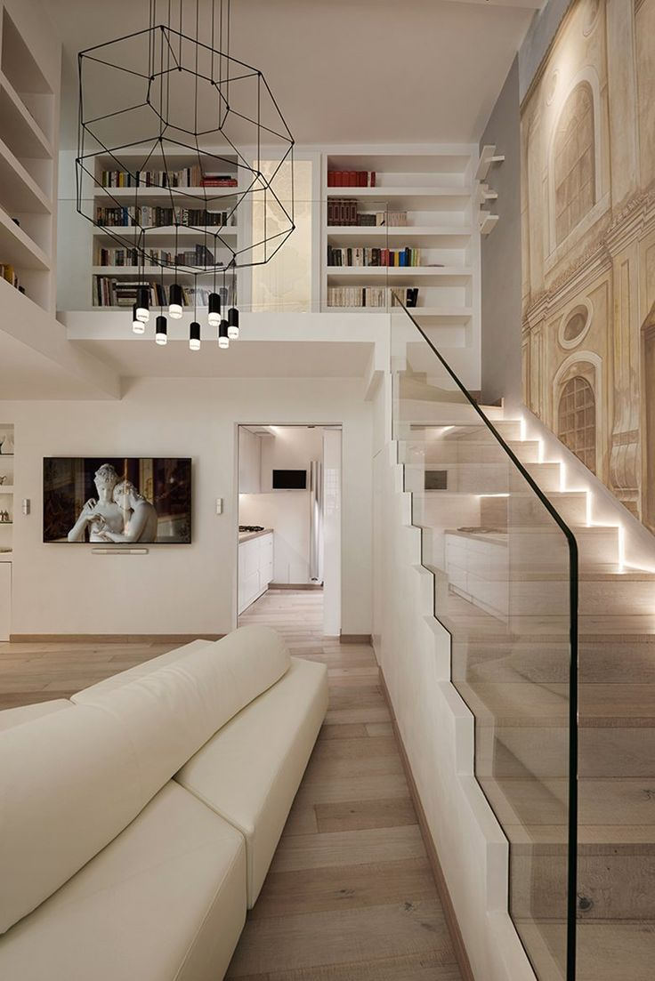 This prestigious residence located near the Piazza Navona in Rome is nestled within a unique urban and artistic architectural mosaic.The renovation takes into consideration this unique nuance and emphasizes it through the contrast with new...