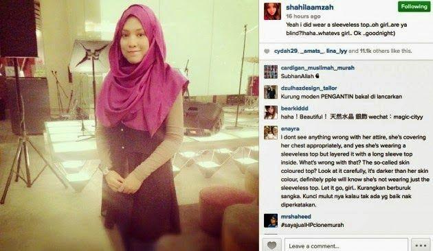 Shila Amzah sindir seseorang - Beberapa minggu lalu, Shila Amzah dikecam teruk peminat di laman sosial kerana didakwa hanya memakai skirt pendek paras peha sambil bertudung yang dipadankan dengan legging berwarna kulit.