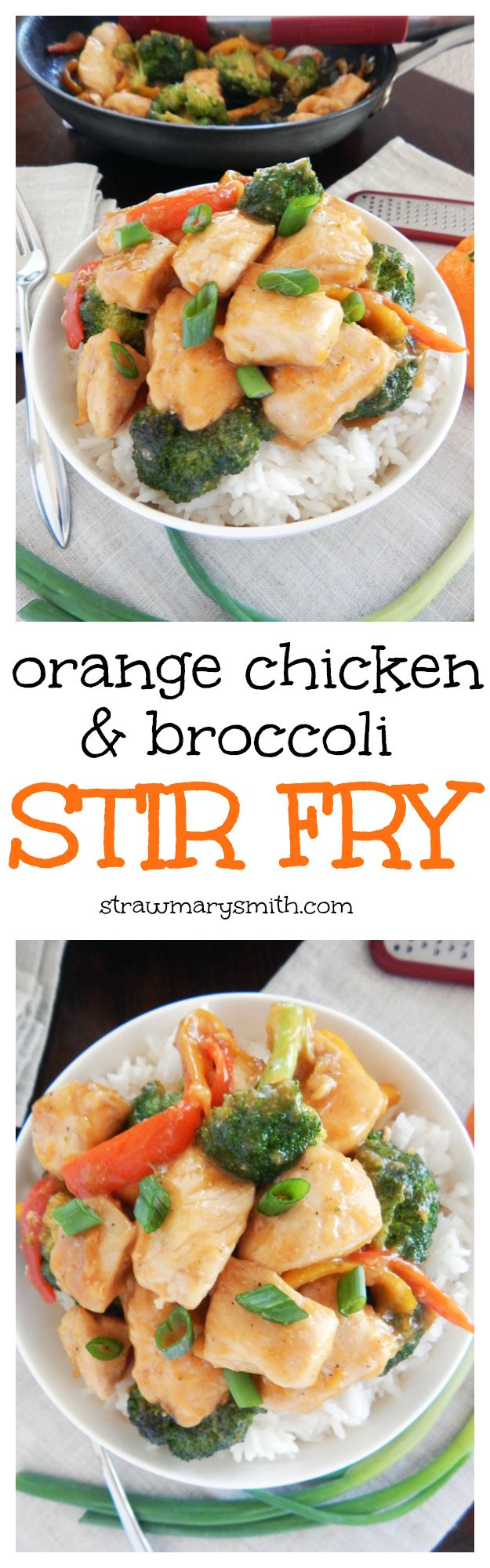 Orange Chicken & Broccoli Stir Fry is a quick and colorful weeknight dinner for two.
