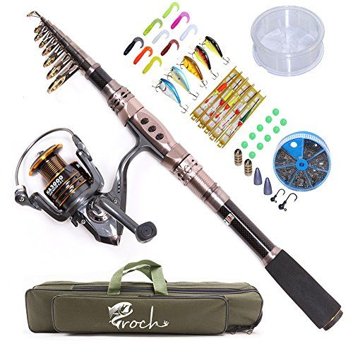 Croch Spinning Rod and Reel Combos Portable Carbon Telescopic Fishing Rod and Reel Set for Saltwater or Freshwater Bass (1.8M/5.91Ft)  http://fishingrodsreelsandgear.com/product/croch-spinning-rod-and-reel-combos-portable-carbon-telescopic-fishing-rod-and-reel-set-for-saltwater-or-freshwater-bass/?attribute_pa_color=1-8m-5-91ft  Strong and Durable. This fishing rod is made from Carbon Fiber mixed with Fiberglass. Conveniently. Portable closed length design for conveniently ca
