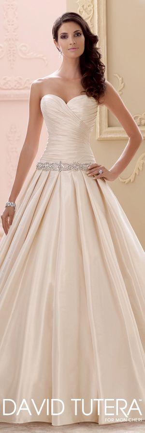 The David Tutera for Mon Cheri Spring 2015 Wedding Dress Collection - Style No. 115243 Mirabella   davidtuteraformoncheri.com  #weddingdresses