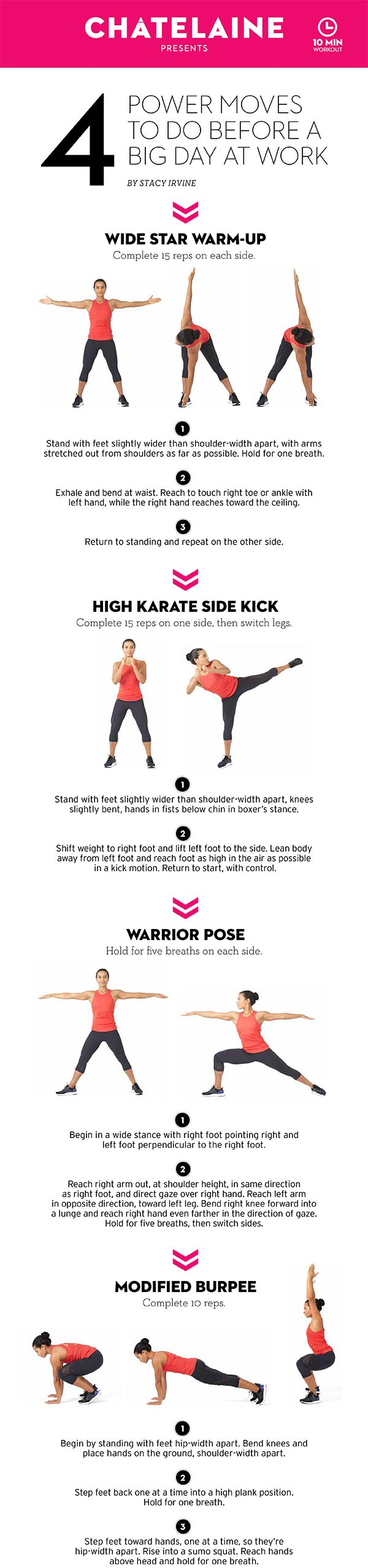 10-minute workout: 4 moves to prepare you for a meeting