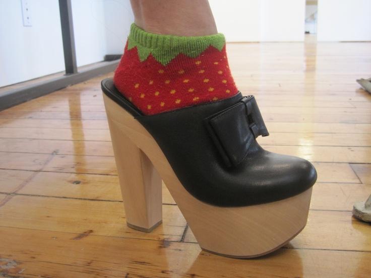 Strawberry socks! So cute!