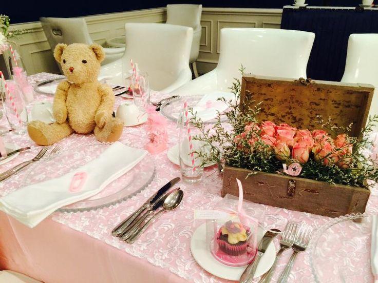 Pink  Baby Shower Teddy  Vintage