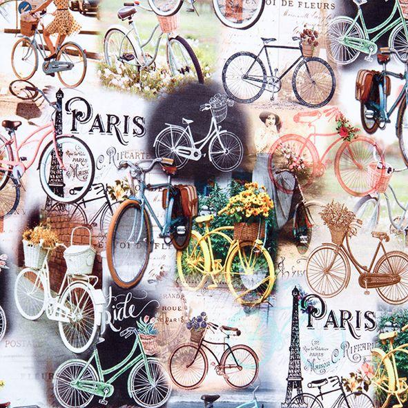 Bavlněný úplet bicykl, digitální tisk