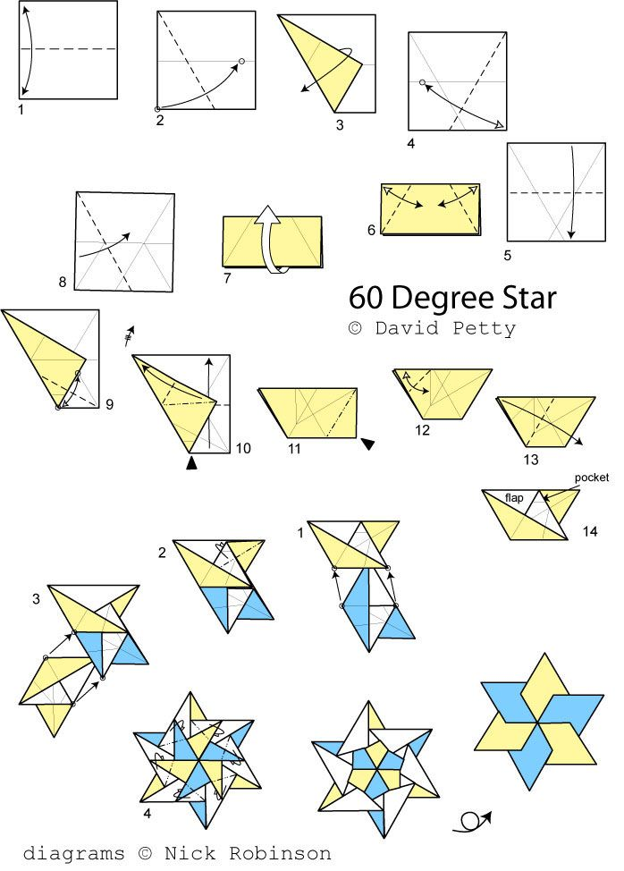 Origami Ninja Star 16 Point Instructions