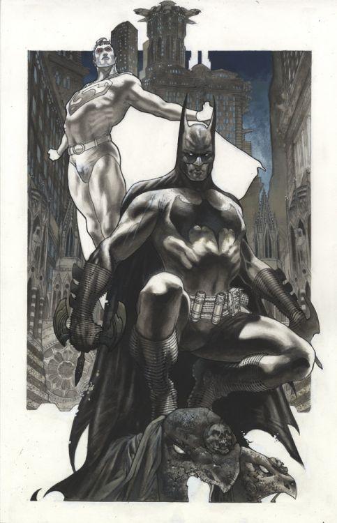 Superman and Batman •Simone Bianchi