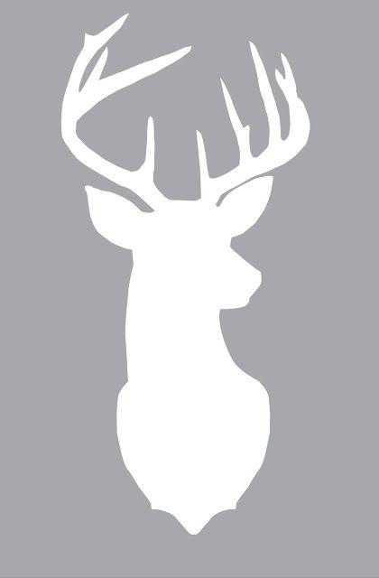Plantilla ciervo para cortar con Silhouette Camo o Portrait.