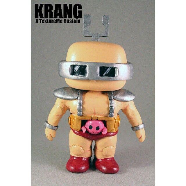 Custom 6 Inch Krang Pop Vinyl Fiure By Textureme Rad