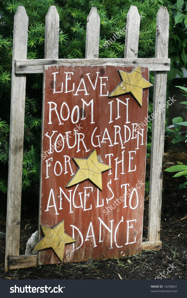 leave room in your garden for angels to dance sign - Google Search
