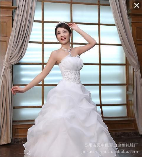Wedding Dress Lace White And Red Color 2014 New Arrival Modern Women Sweet Princess Formal Dress