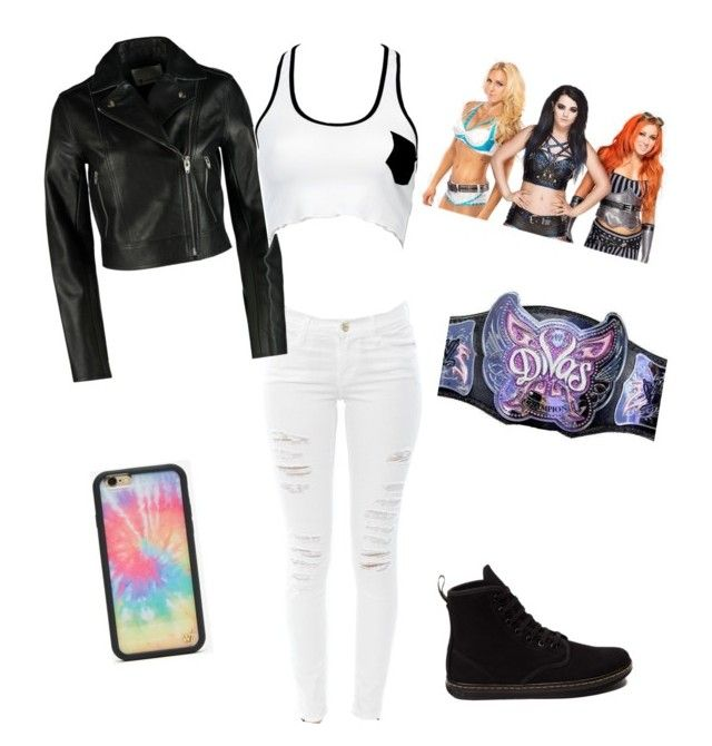 Congrats Charlotte by rosemlove on Polyvore featuring Love Haus, T By Alexander Wang, Frame, Dr. Martens, Wildflower and WWE