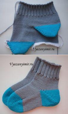 Как вязать носки на вязальной машине | Вязаный Мир. Knit World.