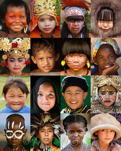 Mosaic of children from around the world.