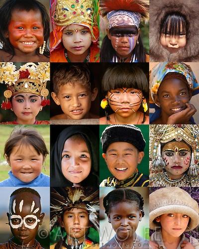 Mosaic of children from around the world.
