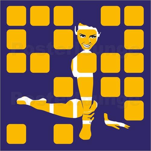 Schoene Kacheln, Neo Pop Art -  JASMIN!