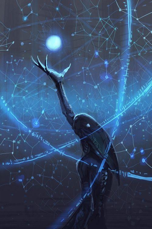 Creature people runes rune magic stars star space constellation