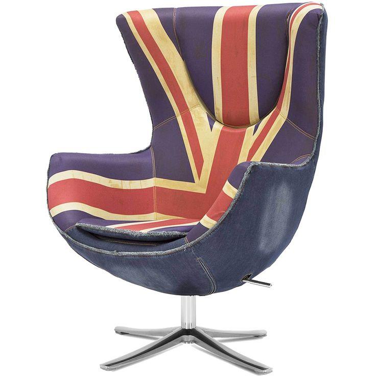 Кресло Яйцо с британским флагом купить в магазине Storeforhome
