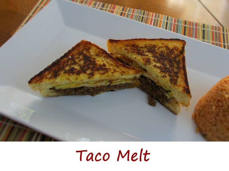 """Anita proclaimed this taco melt as """"one of the best things I've ever made"""". That made me pretty darned happy, since I kinda thought of the idea on my own. I'm sure I'm not the first one to think of making a patty melt-like sandwich using taco meat, but I'm glad I did. It all started with a loaf of Texas Toast. I think Texas Toast is horribly underused. It holds up to darned near anything."""